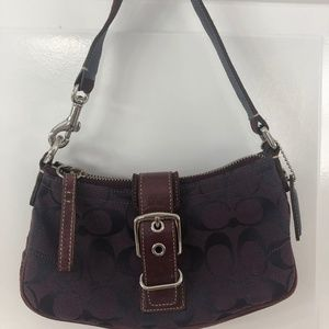 Coach,  Signature Logo Purple Mini Bag